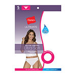 Hanes Ultimate™ Cool Comfort™ Cotton Ultra Soft 5 Pack High Cut Panty