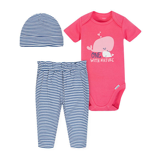 Gerber Girls 3-pc. Bodysuit Set-Baby