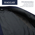 Haggar Active Series Solid Gab Tailored Fit Mens Stretch Regular Fit Sport Coat