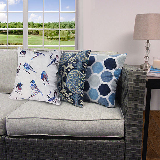 Home Fashions International Block Party Square Throw Pillow