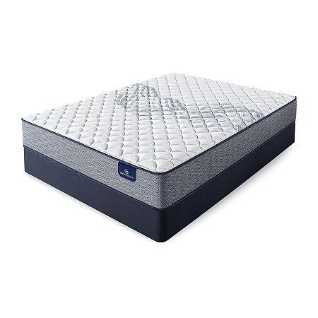 Serta Perfect Sleeper Birchview Plush - Mattress + Box Spring, Queen, Blue