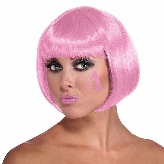 Pink Bob Wig Dress Up Accessory