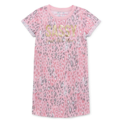 Peace Love And Dreams Toddler Girls Short Sleeve Mommy and Me Nightshirt