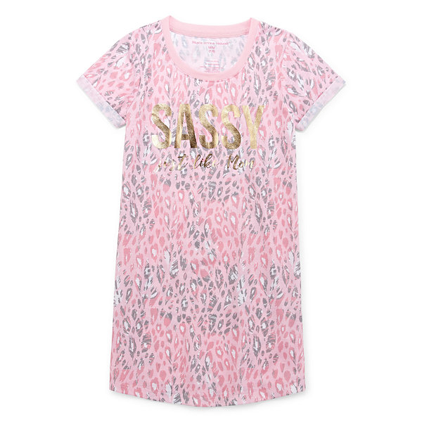 Peace Love And Dreams Girls Short Sleeve Mommy and Me Nightshirt
