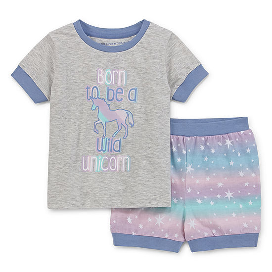 Peace Love And Dreams Toddler Girls 2-pc. Mommy and Me Shorts Pajama Set
