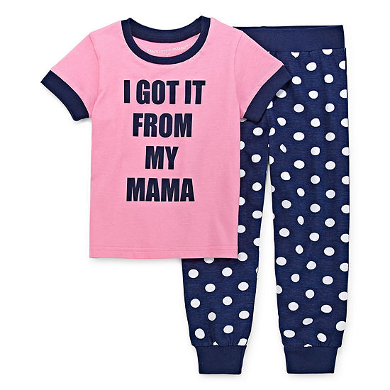 Peace Love And Dreams Toddler Girls 2-pc. Mommy and Me Pant Pajama Set