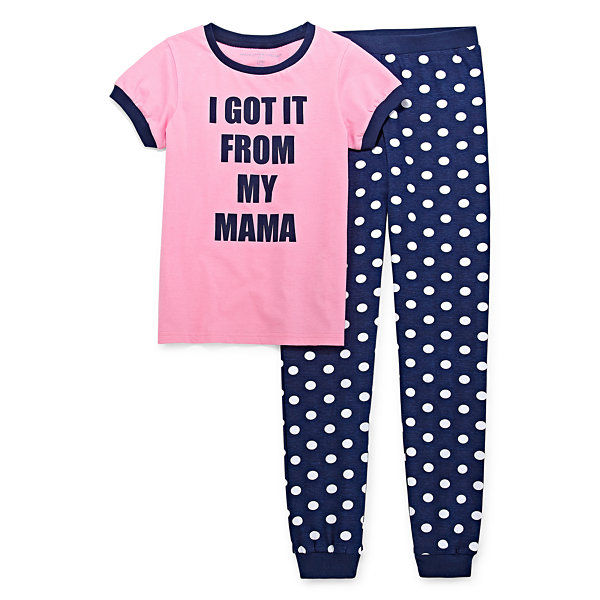 Peace Love And Dreams Girls 2-pc. Mommy and Me Pant Pajama Set