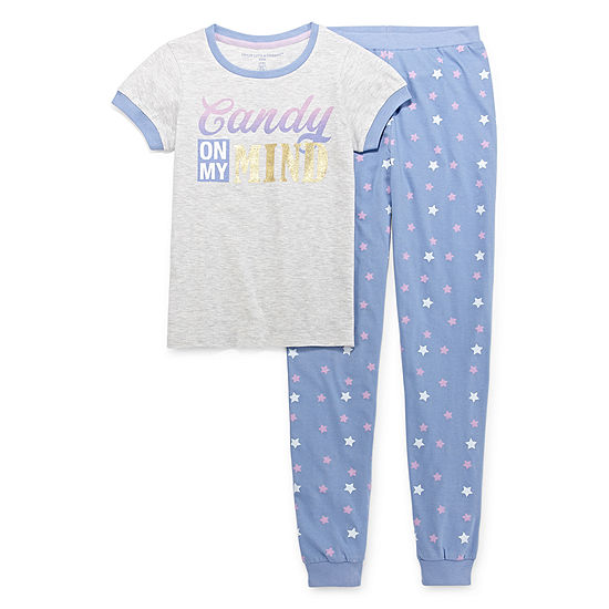 Peace Love And Dreams Girls 2 Pc Mommy And Me Pant Pajama Set