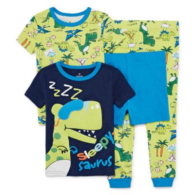 Night Life 4-pc. Pajama Set Toddler Boys