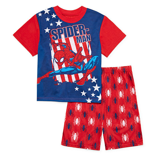 Marvel Little & Big Boys 2-pc. Spiderman Shorts Pajama Set