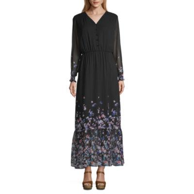 Weslee Rose Long Sleeve Floral Maxi Dress