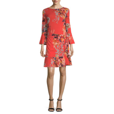 Weslee Rose Long Sleeve Floral Wrap Dress