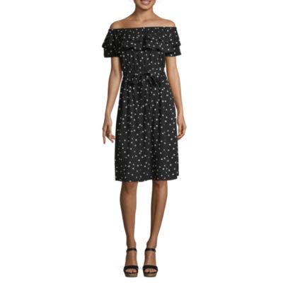 a.n.a Off The Shoulder Peasant Dress