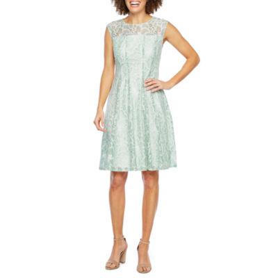Studio 1 Sleeveless Lace Fit & Flare Dress