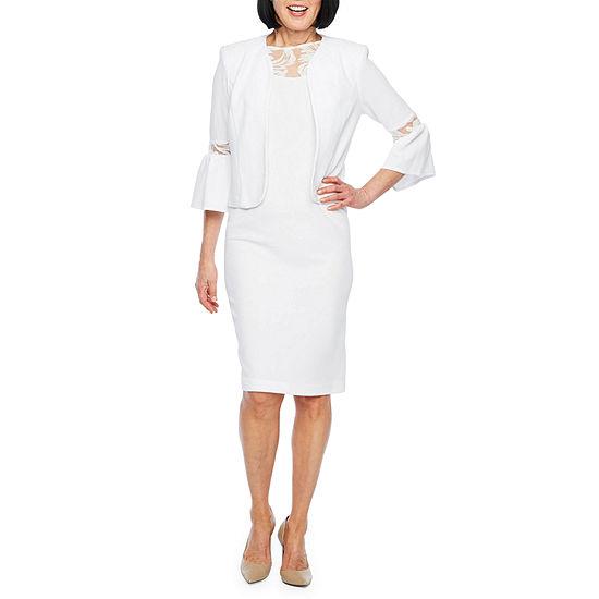 Maya Brooke 3 4 Sleeve Jacket Dress