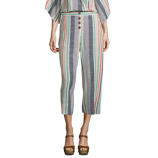 a.n.a Faux Button Front Crop Pant - Tall