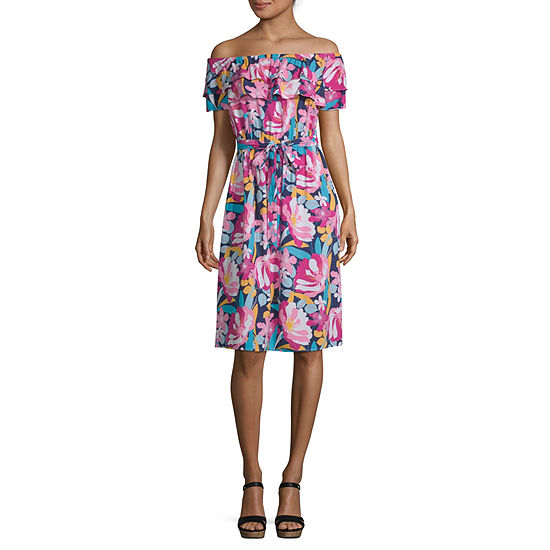 a.n.a Off The Shoulder Peasant Dress-Tall