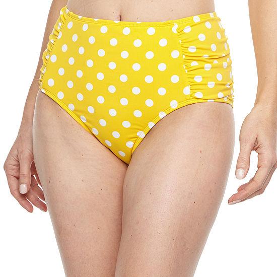 Liz Claiborne Dots High Waist Swimsuit Bottom