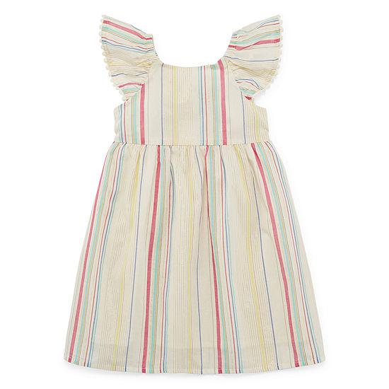 Peyton & Parker Girls Sleeveless Shift Dress - Toddler