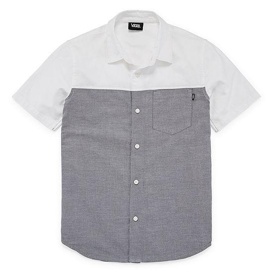 Vans Boys Short Sleeve Button-Front Shirt Preschool / Big Kid
