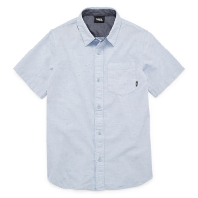 Vans Boys Short Sleeve Button-Front Shirt Preschool / Big Kid