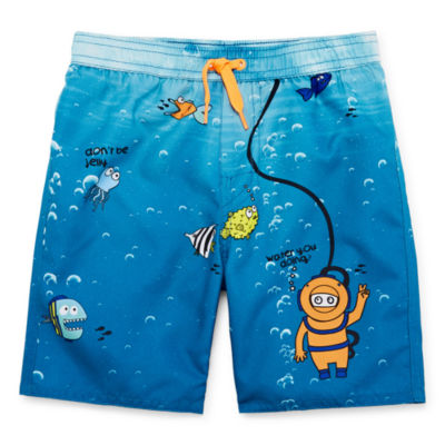Okie Dokie Boys Swim Trunks-Toddler