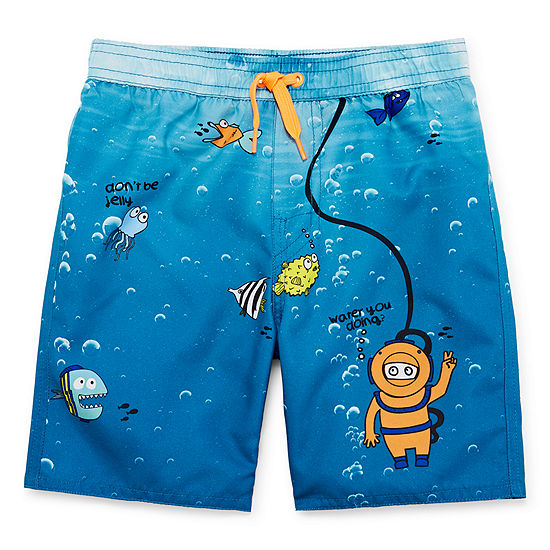 62cdf86c61 Okie Dokie Boys Swim Trunks-Toddler - JCPenney