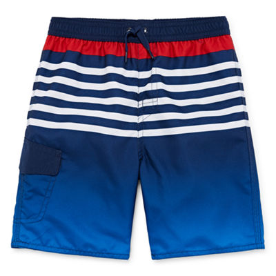 Okie Dokie Boys Ombre Swim Trunks-Toddler