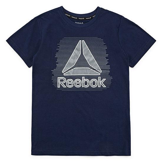 Reebok Boys Crew Neck Short Sleeve Graphic T-Shirt Big Kid
