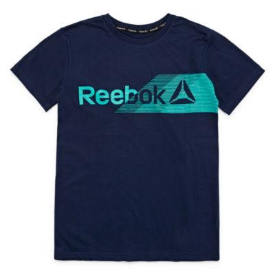 Reebok Boys Crew Neck Short Sleeve Graphic T-Shirt Preschool / Big Kid