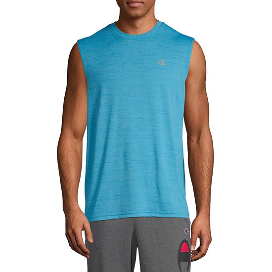 Champion Mens Crew Neck Sleeveless Moisture Wicking Muscle T-Shirt