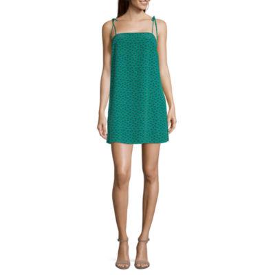 Society And Stitch Sleeveless Slip Dress-Juniors