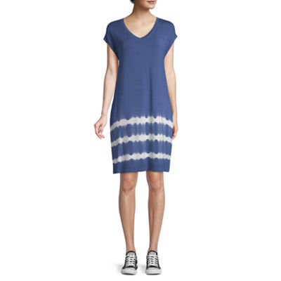 St. John's Bay Active Short Sleeve T-Shirt Dresses