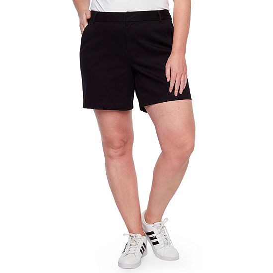 a.n.a Womens 7IN Inseam Twill Short - Plus