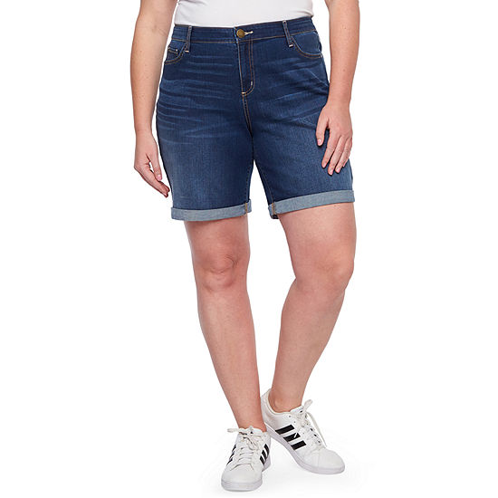 "a.n.a Womens 8"" Denim Short-Plus"