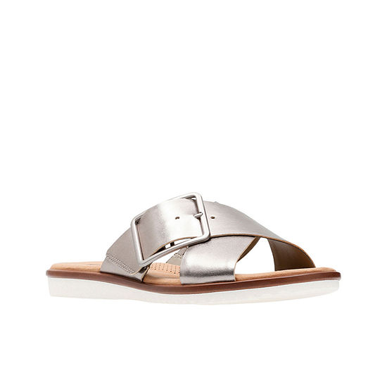 Clarks Womens Kele Heather Slide Sandals