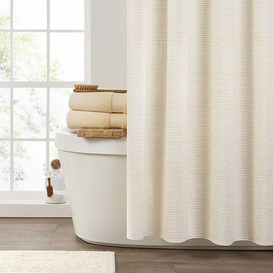 Fieldcrest Seersucker Stripe Print Shower Curtain