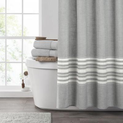 Fieldcrest Textured Stripe Shower Curtain