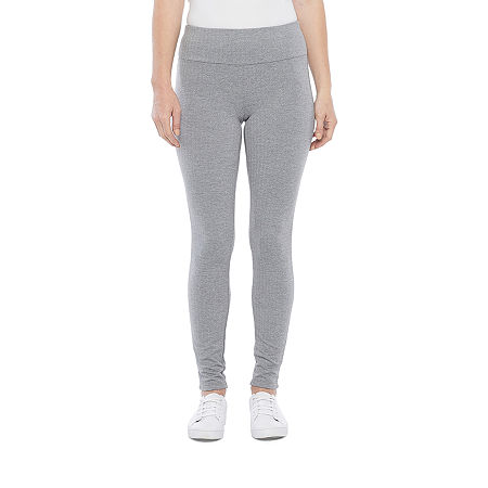 Stylus Womens Mid Rise Full Length Leggings, X-small , Gray