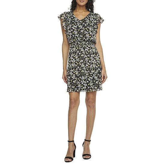 MSK Short Sleeve Fit & Flare Dress