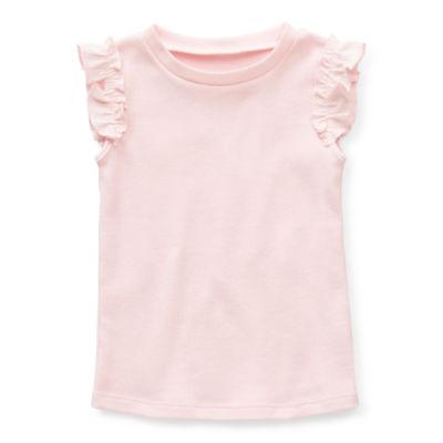 Okie Dokie Toddler Girls Round Neck Sleeveless T-Shirt
