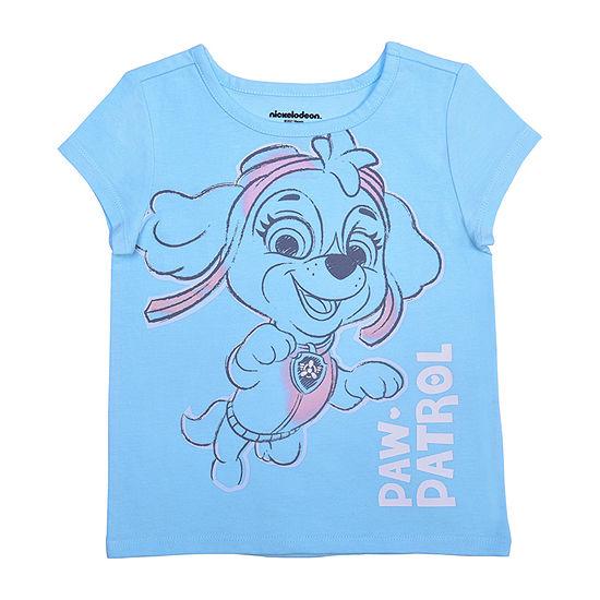 Okie Dokie Toddler Girls Crew Neck Paw Patrol Short Sleeve Graphic T-Shirt