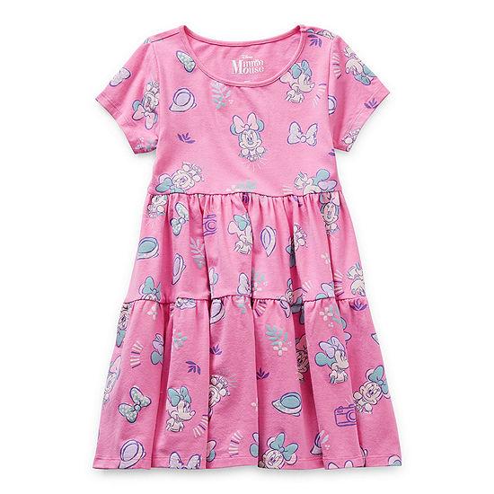 Disney Little & Big Girls Short Sleeve Minnie Mouse Skater Dress