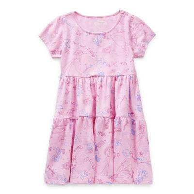 Disney Little & Big Girls Short Sleeve Skater Dress