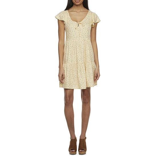 Arizona - Juniors Womens Short Sleeve Babydoll Dress