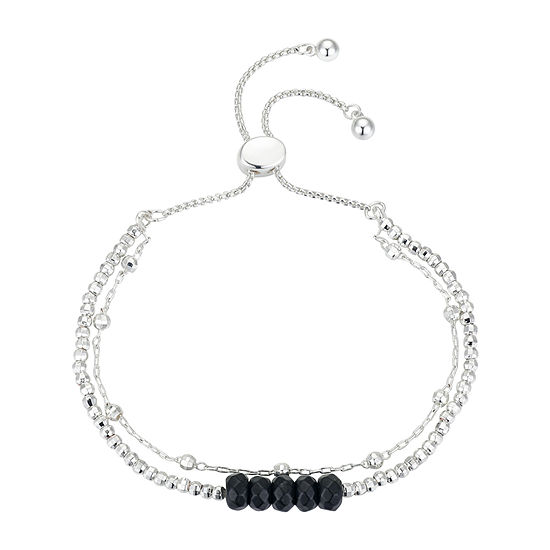 Footnotes Onyx 8 Inch Cable Bolo Bracelet