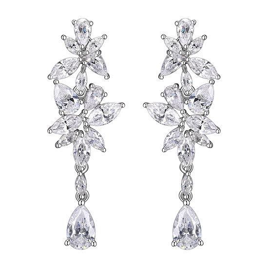 DiamonArt® Cubic Zirconia Sterling Silver Drop Earrings