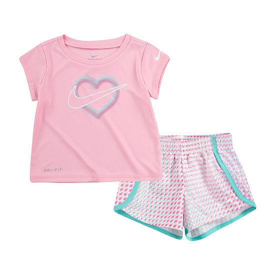 Nike Baby Girls 2-pc. Short Set
