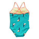 Okie Dokie Toddler Girls Animal One Piece Swimsuit