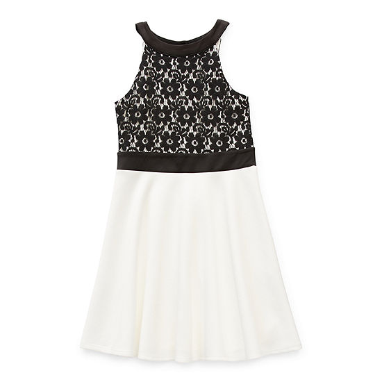 Knit Works Girls Sleeveless Fit & Flare Dress